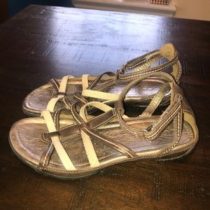 Ecco leather sandals ankle strappy 37 7